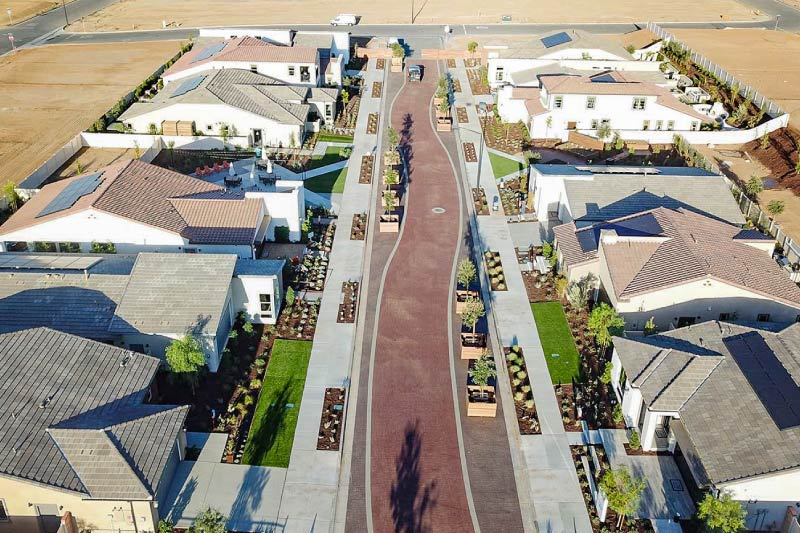 Homes in the Atlis community located in Beaumont, California.