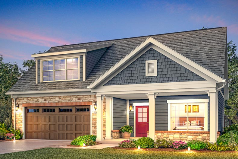Rendering of a model home at 1825 Stilesboro in Marietta, Georgia
