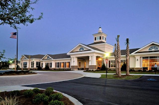 The elegant clubhouse at Del Webb Charleston offers high-end amenities and hosts exciting events.