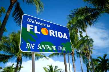 Florida tops the list at the most popular retirement destination according to the visitors to 55Places.com