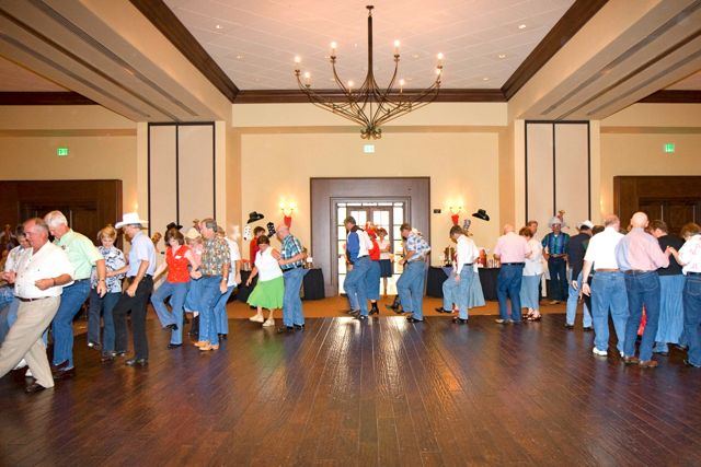 Line dancing is a common social activity for residents at Robson Ranch, Texas.