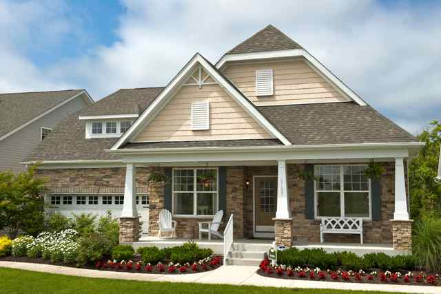 aLongacre Village in Dover, Delaware offers charming homes with picturesque curb appeal.