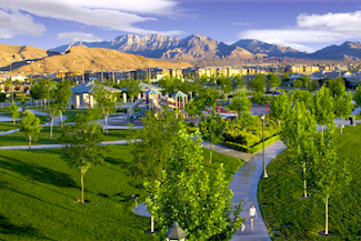 One of the 55+ sections in master-planned community Summerlin, is set for brand new homes by Shea Homes.