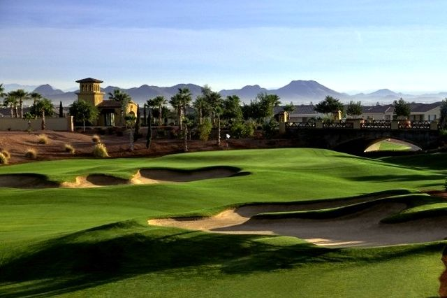 Corte Bella Golf Clubs classic layout provides an escape from the ubiquitous carries and target greens found in traditional desert golf courses.