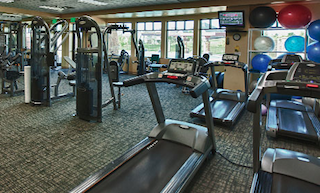 Residents can get in a quick work-out complete with scenic views in the state-of-the-art fitness center.