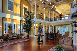 The 41,000 square-foot clubhouse is beautifully appointed with designer decor and high-end amenities.