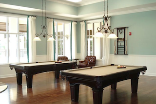 Amenities at The Plantation are all tastefully designed including the community billiard room.