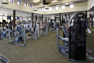 An impressive fitness center offers the latest equipment to encourage and support a healthy lifestyle.