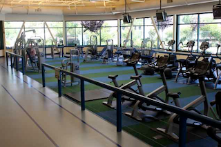 A state-of-the-art fitness center offers the latest equipment to support a healthy lifestyle.