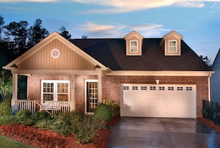 Single family homes at Lake Ridge feature elegant design and welcoming curb appeal.