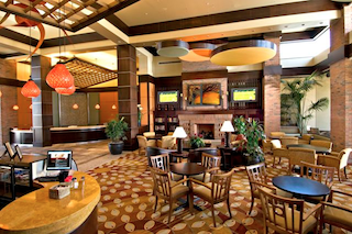 The clubhouse lobby is ideal for meeting up with friends for coffee or catching