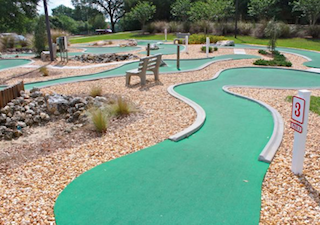 Residents enjoy world-class amenities including unique features such as a fun mini golf course.