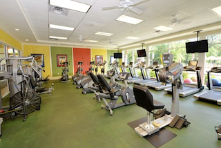 The Haven clubhouse features a fitness center, swimming pool, activity rooms and social spaces.