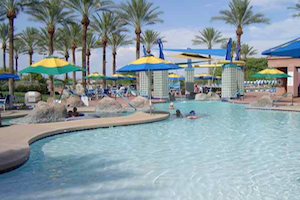 Residents can retreat from the Arizona heat in one of three fabulous outdoor swimming pools.