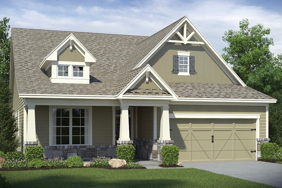 The Brunswick model to be offered at Lennar's community The Gardens of Harmony in Georgia.
