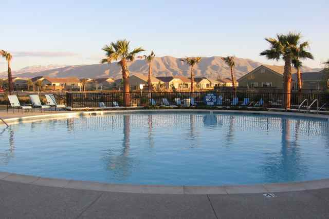 The Aspen Clubhouse also has an outdoor pool and spa, large patio, grand ballroom, hobby and craft studios, card room, library and computer lab.
