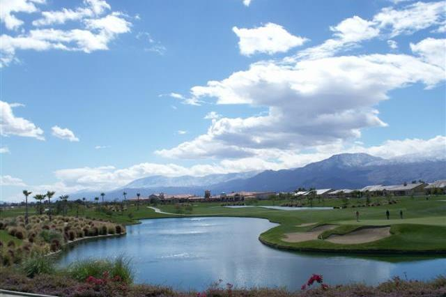The 18-hole golf club at Sun City Shadow Hills in Indio rivals the famous golf of neighboring Palm Springs, California.