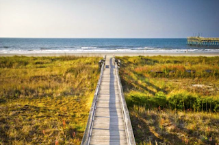Sunset Beach is a popular destination near the Coastal North Carolina town of Wilmington.