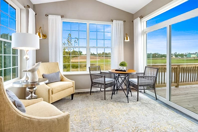interior view of a model home at Andaré at Woodlore Estates in Crystal Lake, Illinois