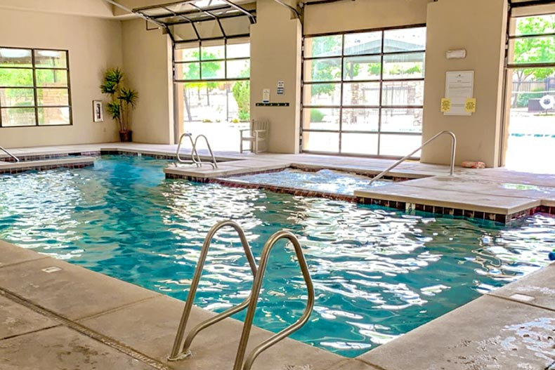 View of the indoor pool at Unit 8 at StoneRidge in Prescott Valley, Arizona