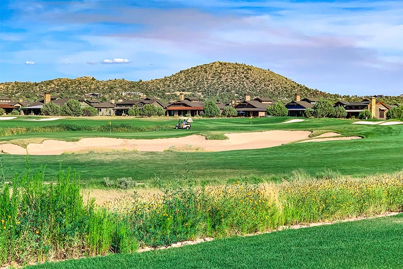 View of the golf course at Talking Rock in Prescott, Arizona