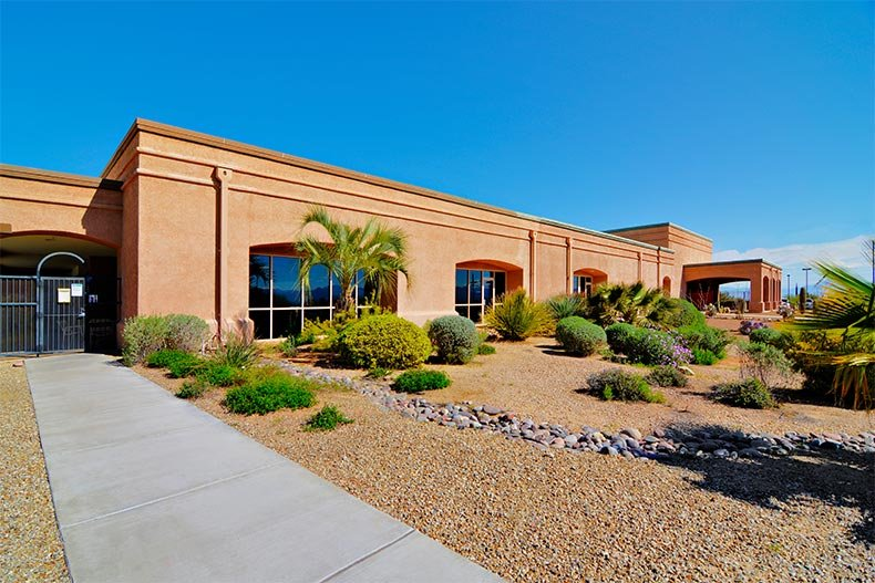 Exterior view of Green Valley Recreation's Las Campanas Center in Green Valley, Arizona