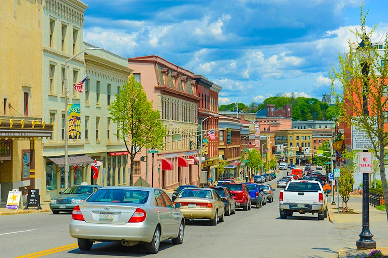 Downtown streets of Bangor, Maine