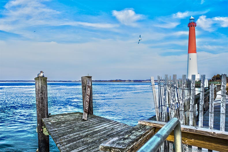 Dock near Barnegat Light in New Jersey
