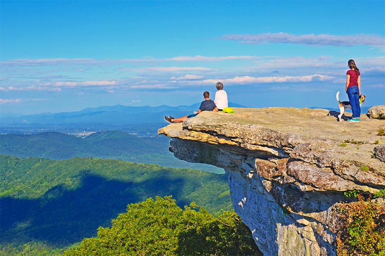 McAfee Knob and stunning views of the Appalachian trail in Blacksburg, CA