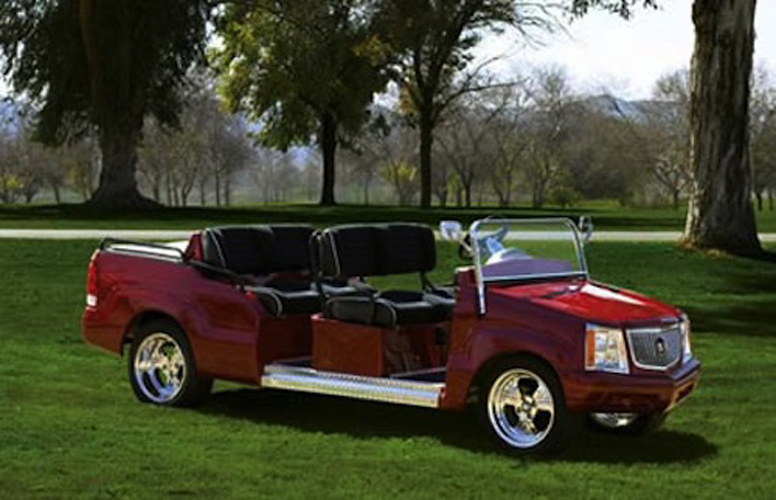 limo luxury white escalade supreme choice affordable custom carts great cart the golf is cadillac a for