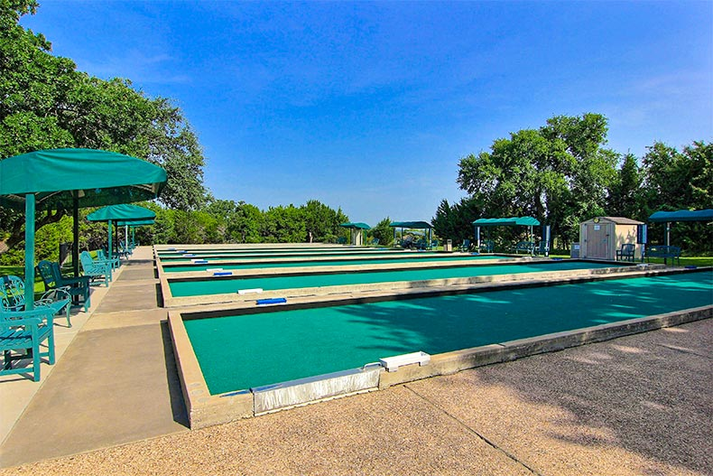 Bocce ball courts in Sun City Texas