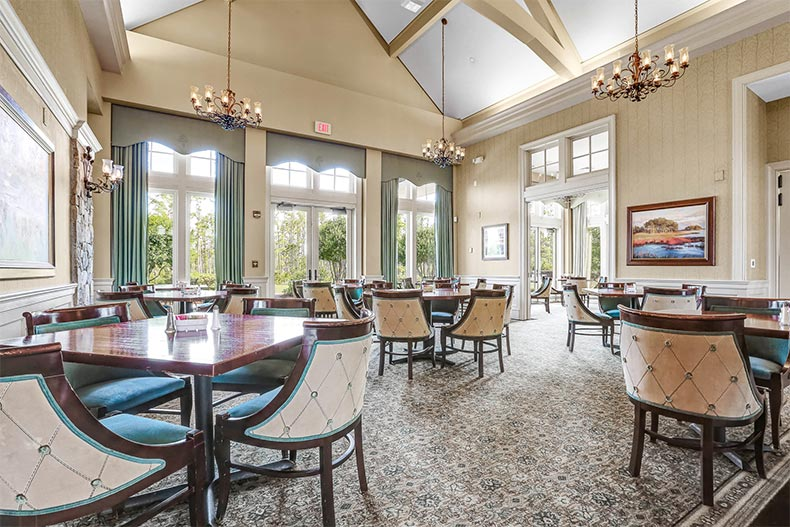 Interior view of the on-site restaurant at Brunswick Forest in Leland, North Carolina
