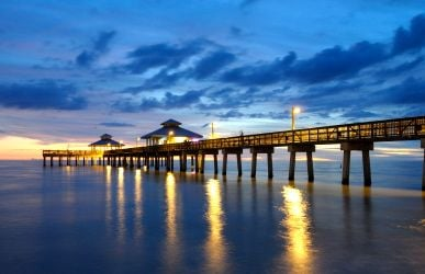 The Fort Myers Pier is a major destination for fishing and enjoying the beach.