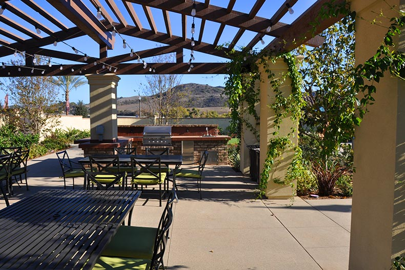 View of the BBQ area at Gavilan in Rancho Mission Viejo, California