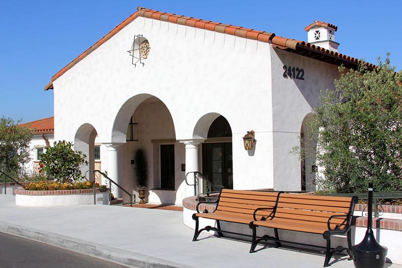 Exterior view of Clubhouse Two at Laguna Woods Village in Laguna Woods, California