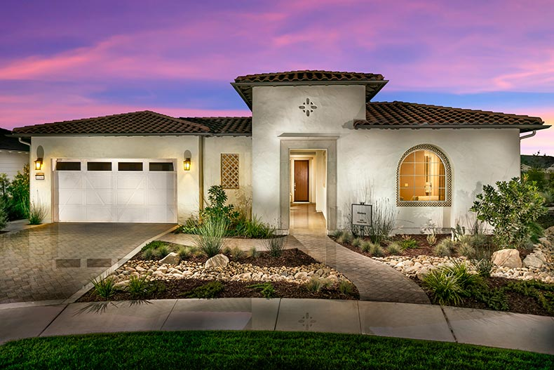 Exterior view of a model home at Trilogy® at Monarch Dunes in Nipomo, California