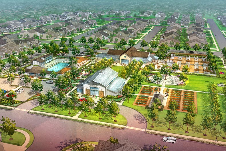 Rendering of an aerial view of Summit at Liberty in Rio Vista, California