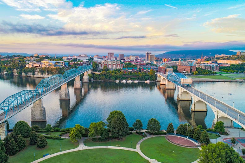 Aerial view of Chattanooga, Tennessee