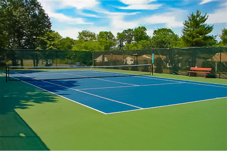 tennis court in Clearbrook in Monroe, NJ