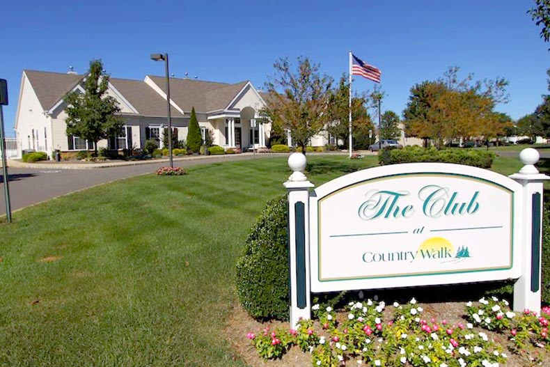 Exterior view of The Club at Country Walk of Lake Ridge in Whiting, New Jersey