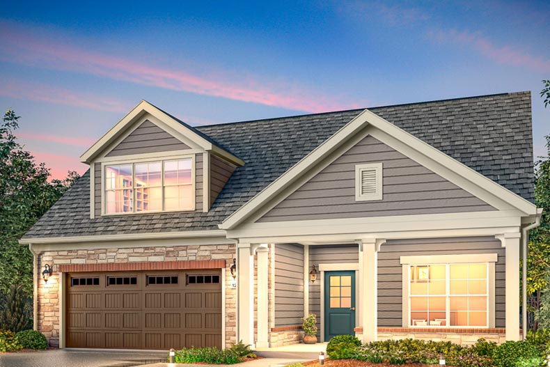 Rendering of a model home at Courtyards at Camden in Acworth, Georgia