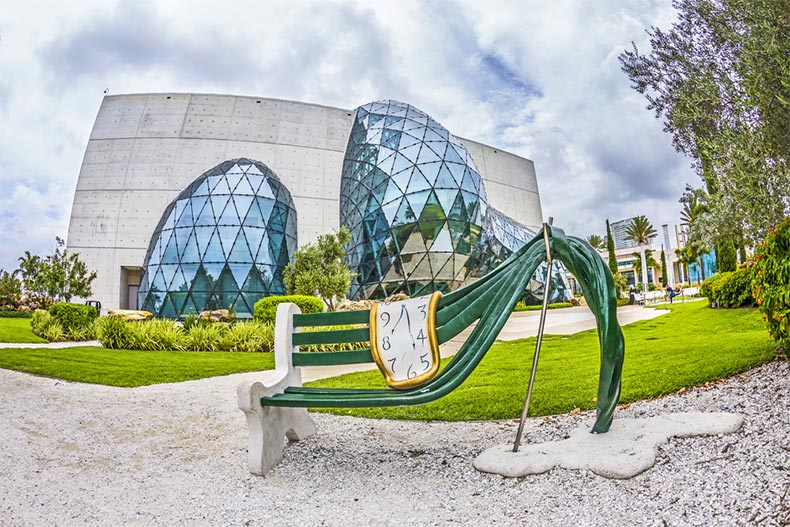 Exterior view of the Salvador Dali Museum in St. Petersburg, Florida