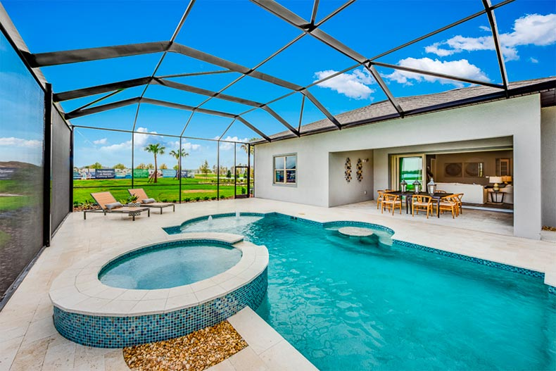 Pool in a Del Webb Bexley home, Land O'Lakes, FL