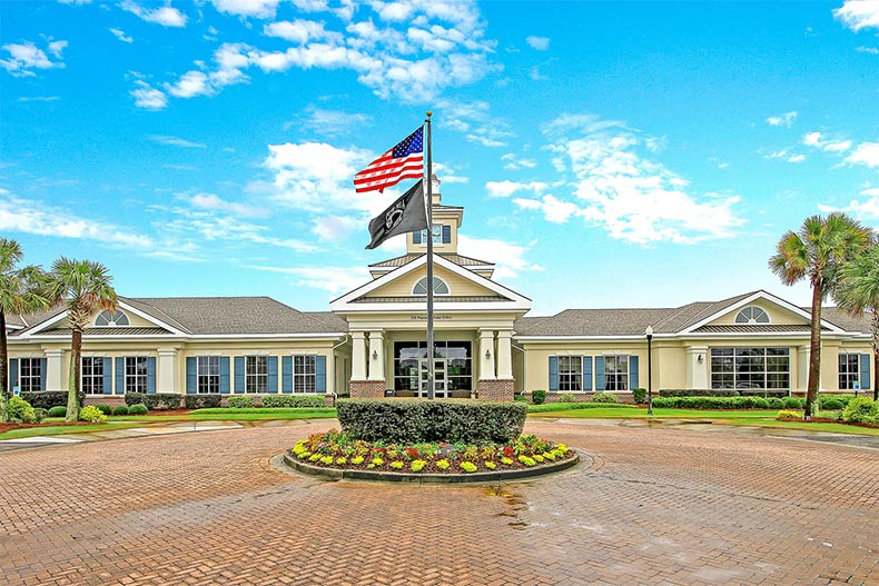 Exterior view of the clubhouse at Del Webb at Cane Bay in Summerville, South Carolina