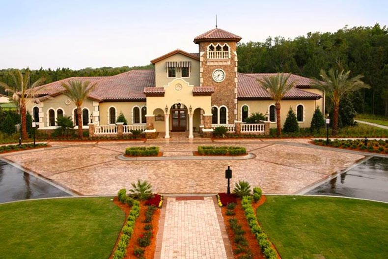Exterior view of the clubhouse at Del Webb Ponte Vedra in Ponte Vedra, Florida