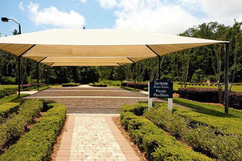 The outdoor picnic pavilion at Del Webb Ponte Vedra in Ponte Vedra, Florida