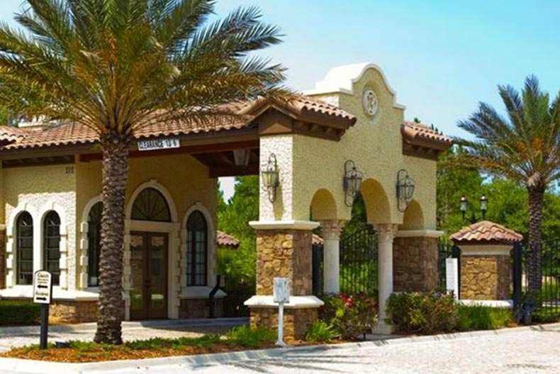 Exterior view of a clubhouse at Del Webb Ponte Vedra in Ponte Vedra, Florida