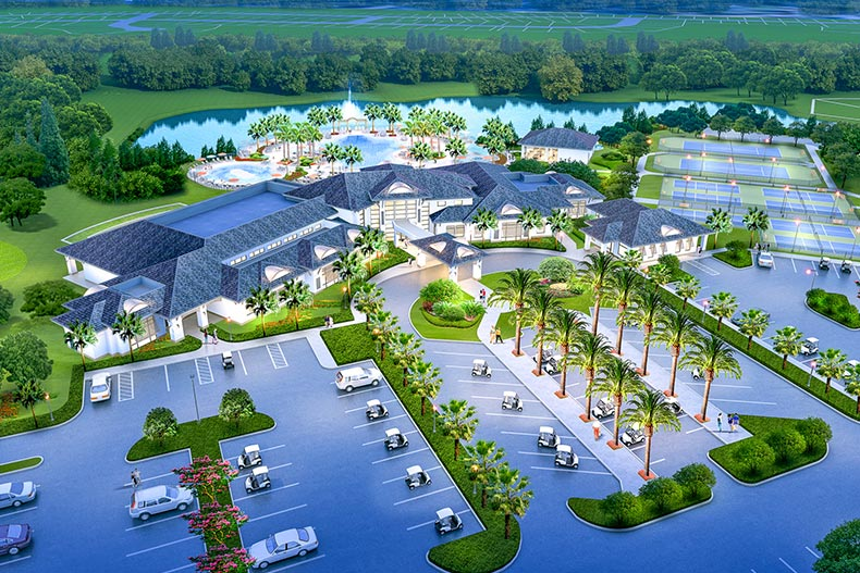 Rendering of an aerial view of Del Webb Sunbridge in St. Cloud, Florida