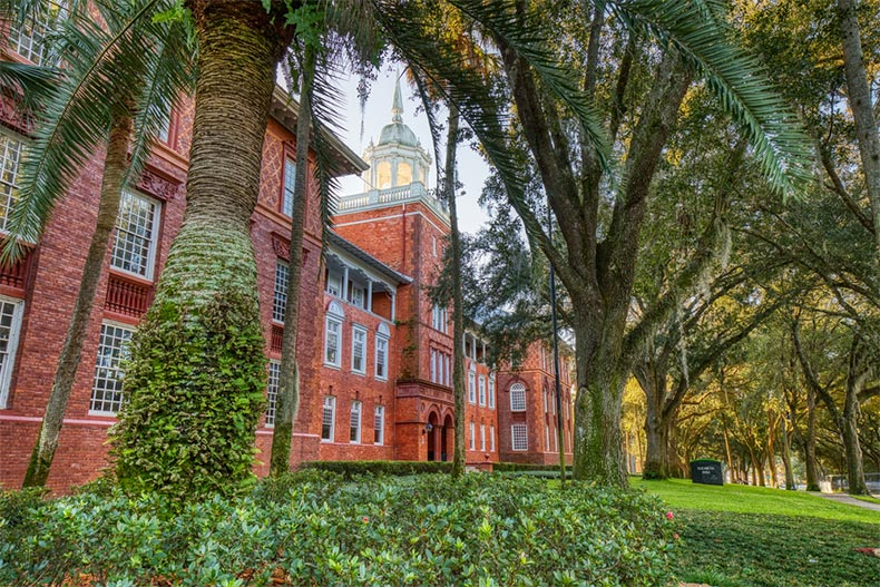 Elizabeth Hall on the campus of Stetson University in Deland, Florida