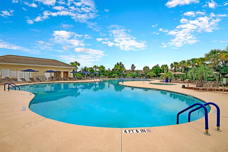 Resort style pool at Cane Bay by Del Webb
